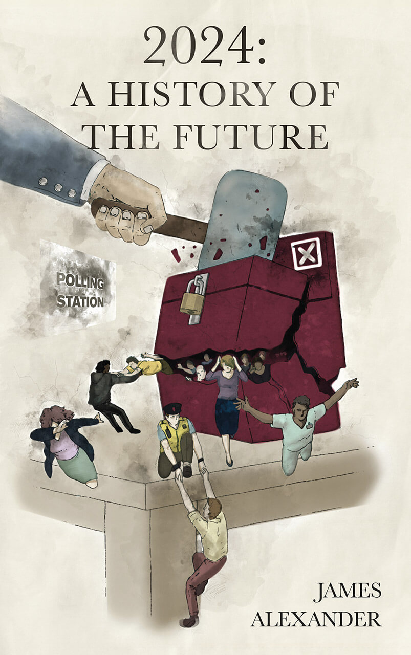 2024 A History Of The Future  Book Cover Design Illustration