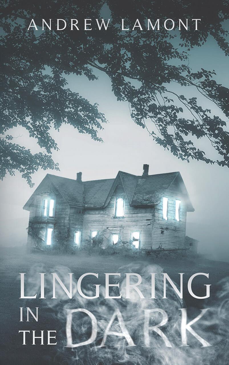 Lingering In The Dark Book Cover Design