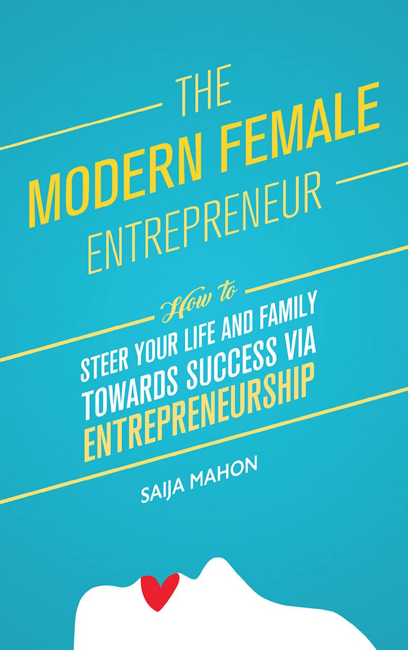 The Modern Female Entrepreneur Book Cover Design