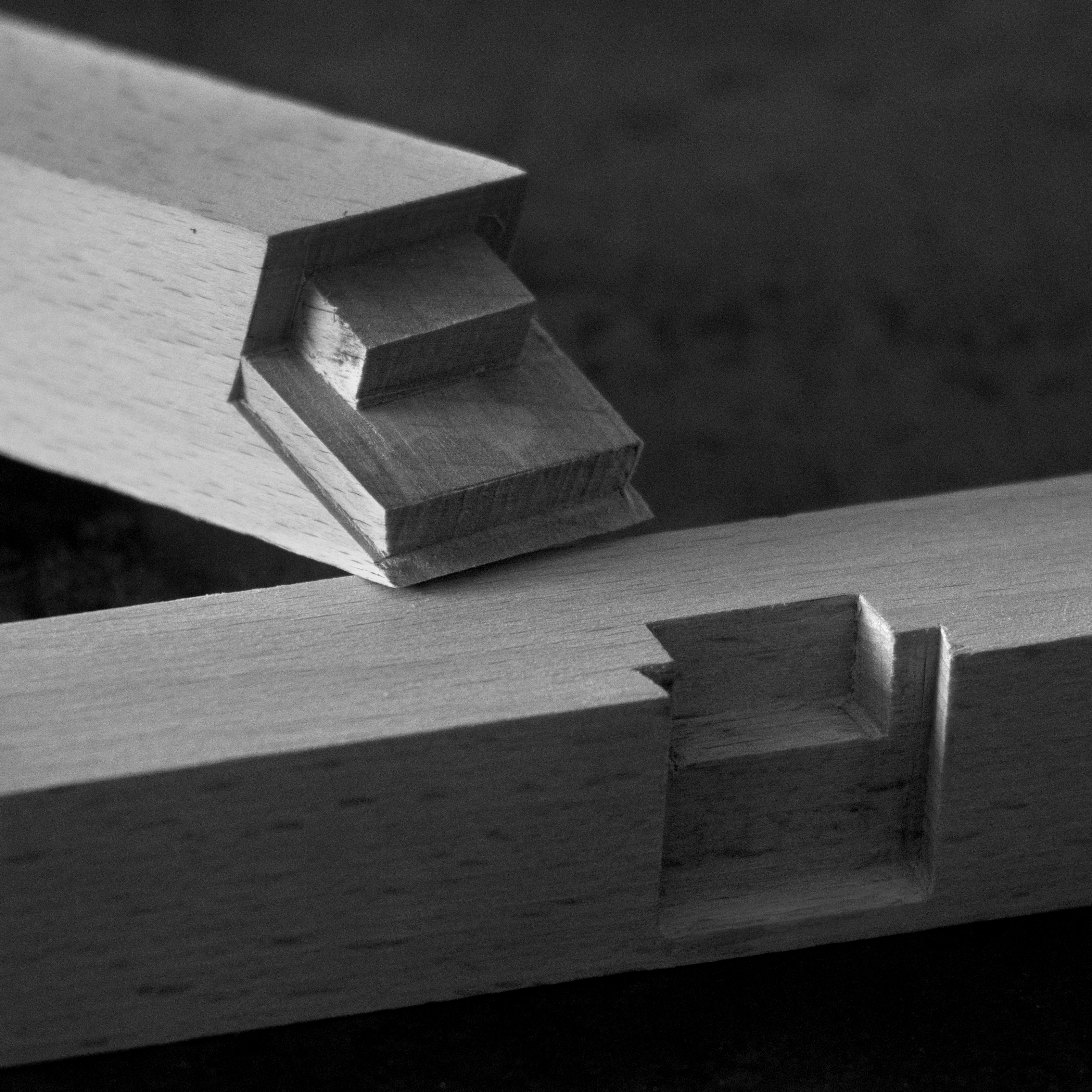 UKB Chair was inspired by the strength and precision of Japanese joinery