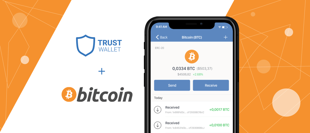 Trust Wallet va suporta si Bitcoin pe iOS