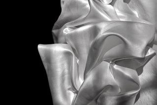 Image of white silk fabric