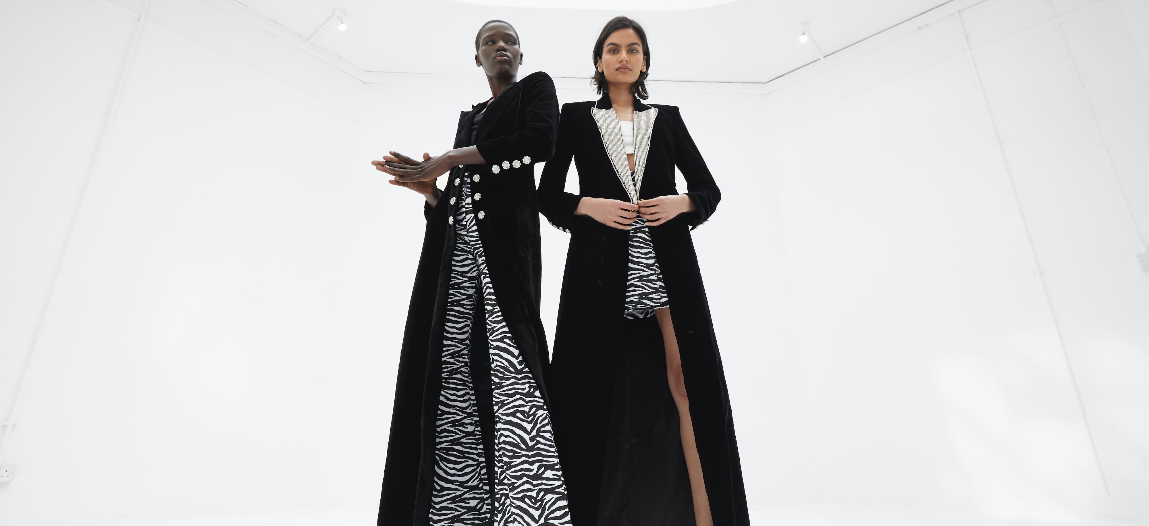 2 models wearing the Khanum's Kimonos