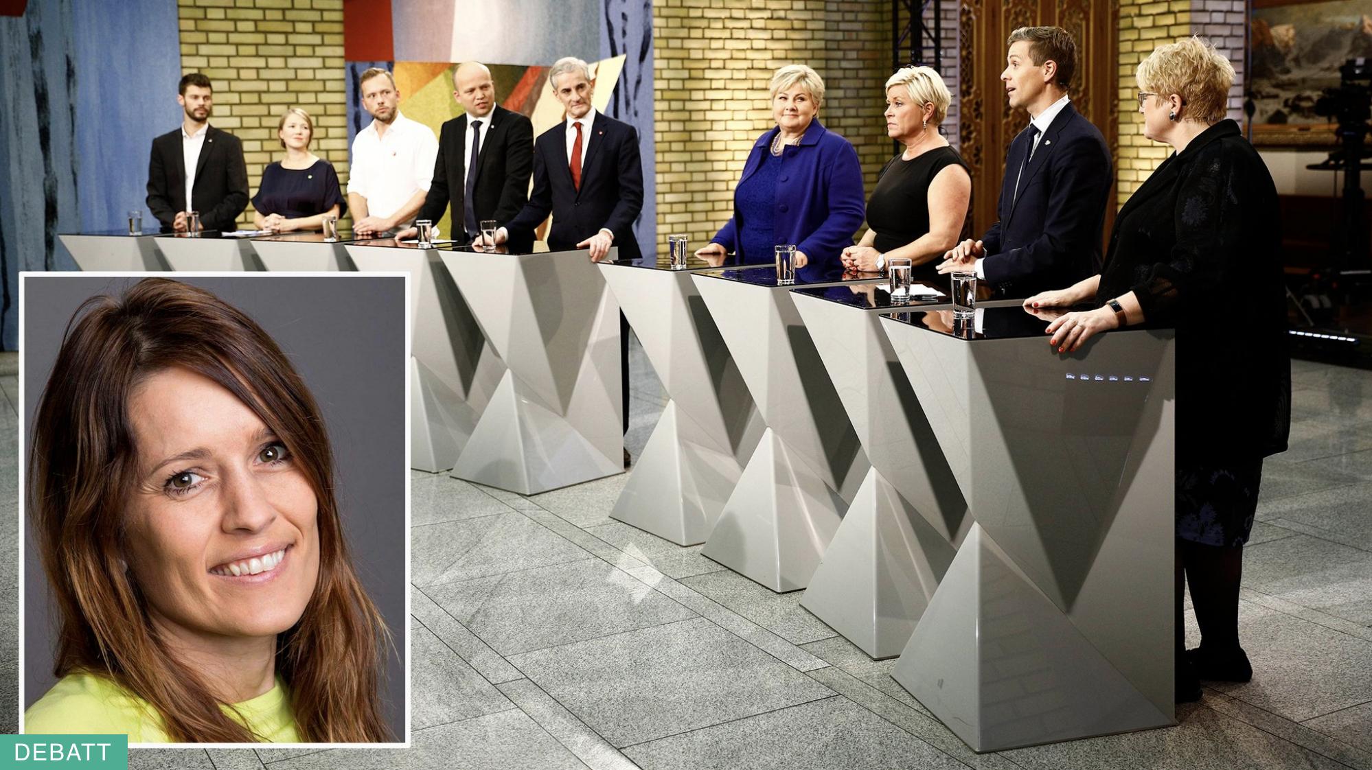 Illustrasjonsbilde politikarar og Anette Lauareid Hovda