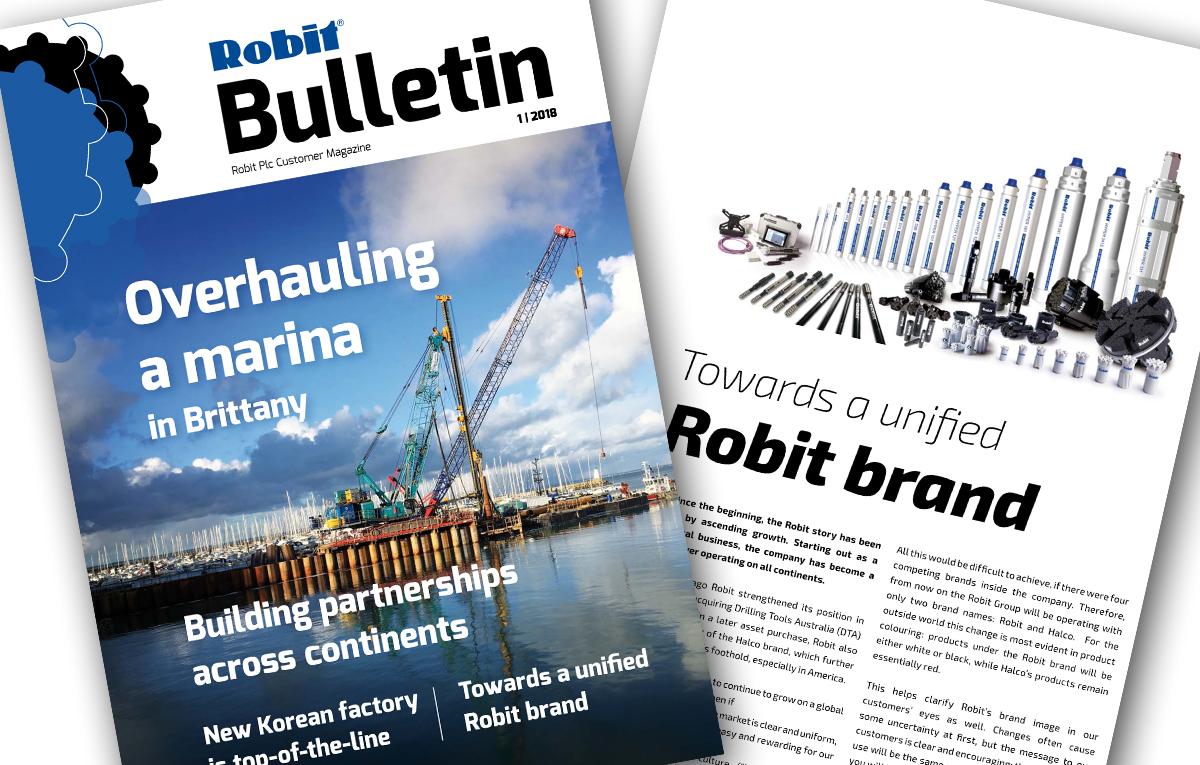 Robit Bulletin 1/2018 magazine published