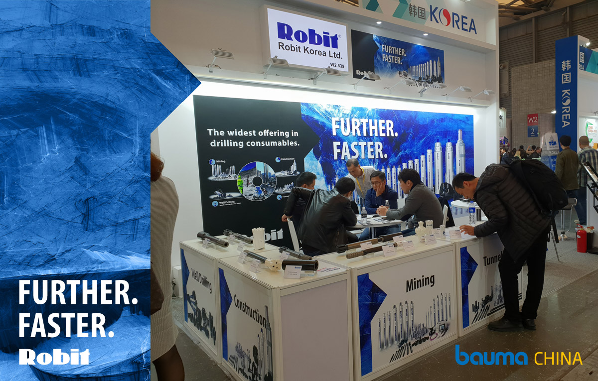 Robit team looks forward to meeting you in Bauma China