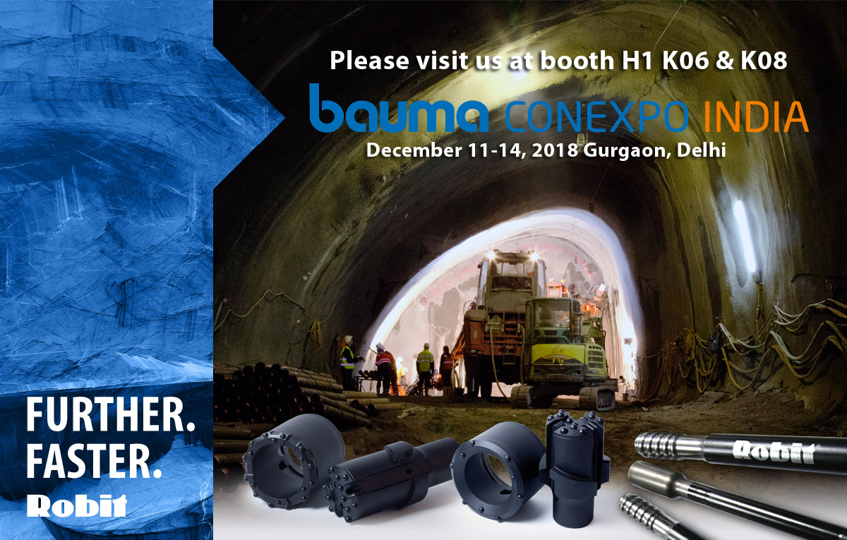 See us at Bauma Conexpo India 2018, 11-14 December in Gurgaon, Delhi