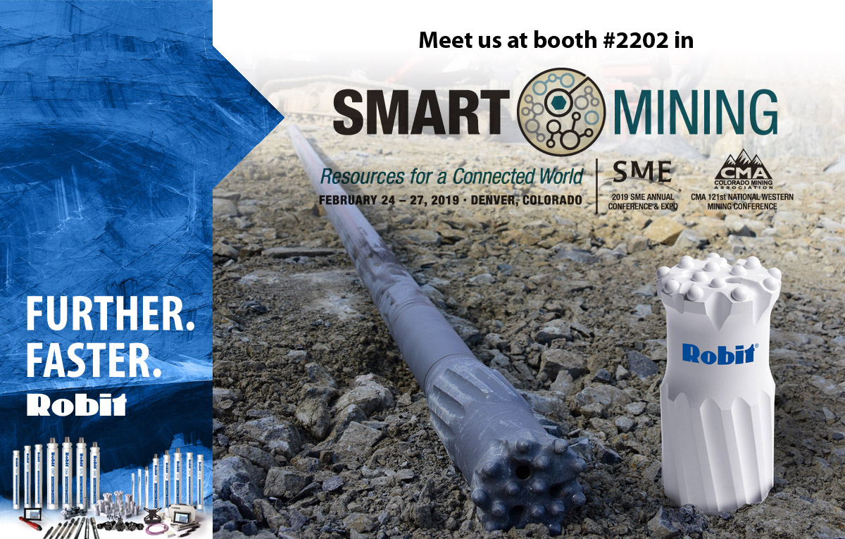 Meet us at 2019 SME Annual Conference & Expo and CMA 121st National Western Mining Conference