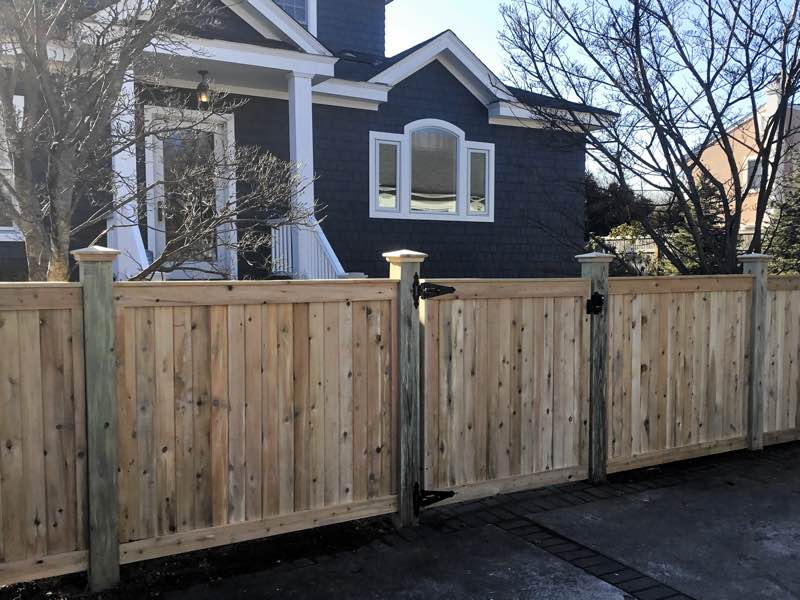 Wood fence installed in Islip NY