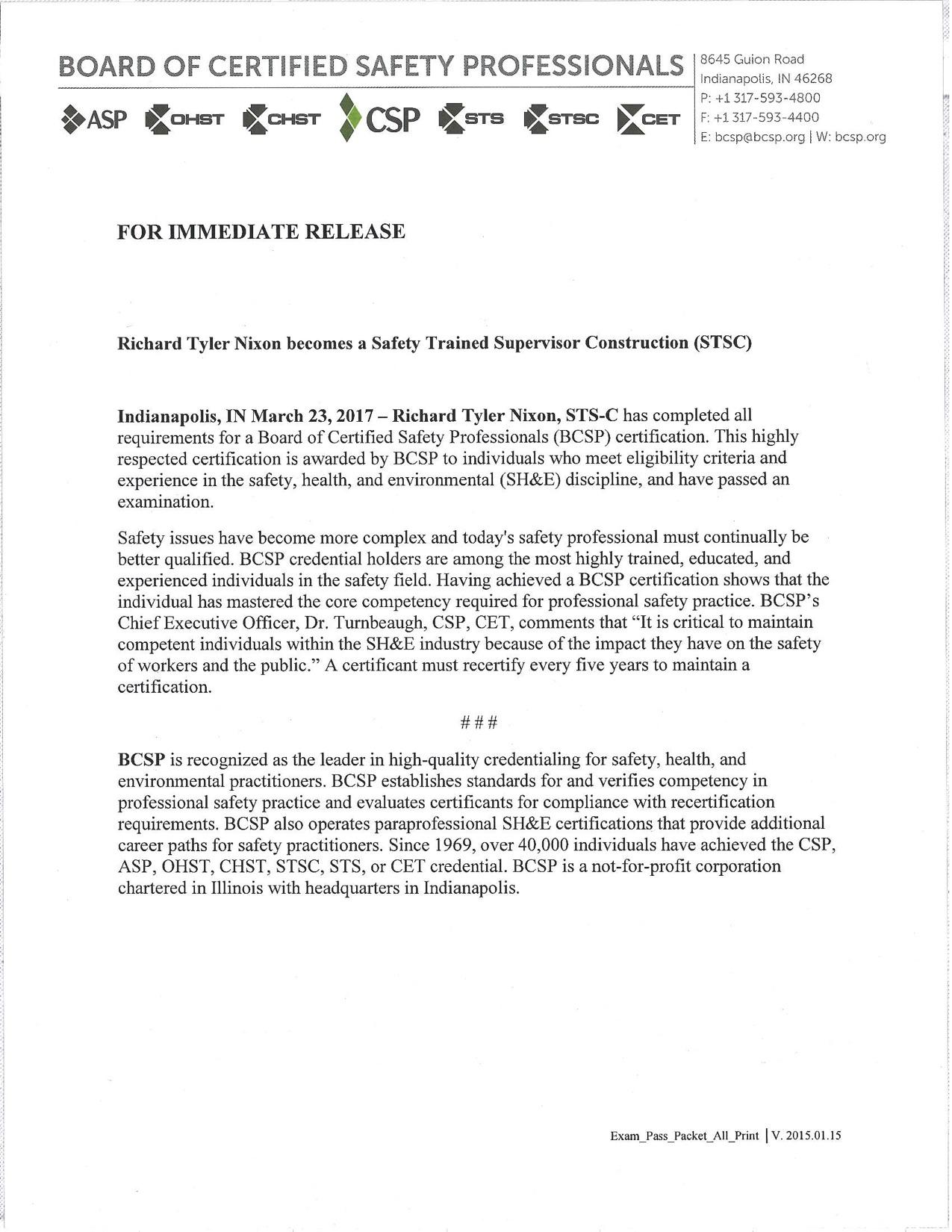 Congratulations Tyler! - Redi Services LLC News