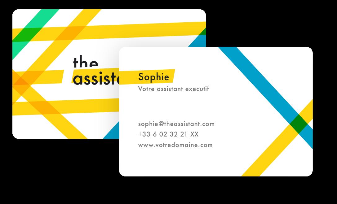 La carte de visite de votre assistant