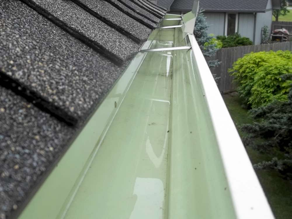 Gutter after being cleaned