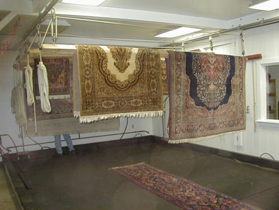 Oriental Area Rugs drying