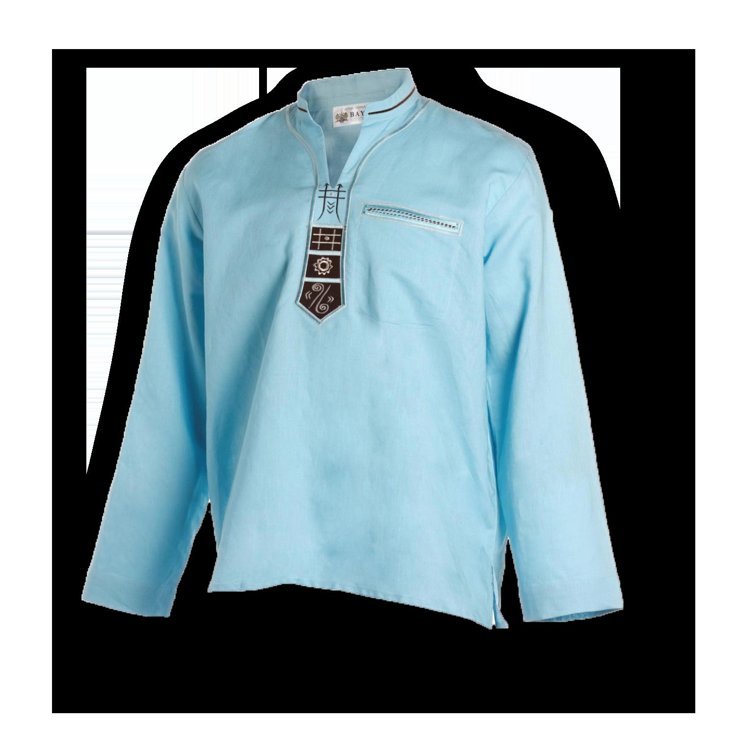 Bayede! Light Blue Ethnic Shirt