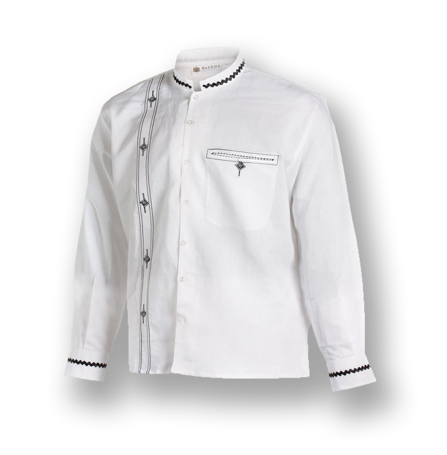 Bayede! White Chinese Collar