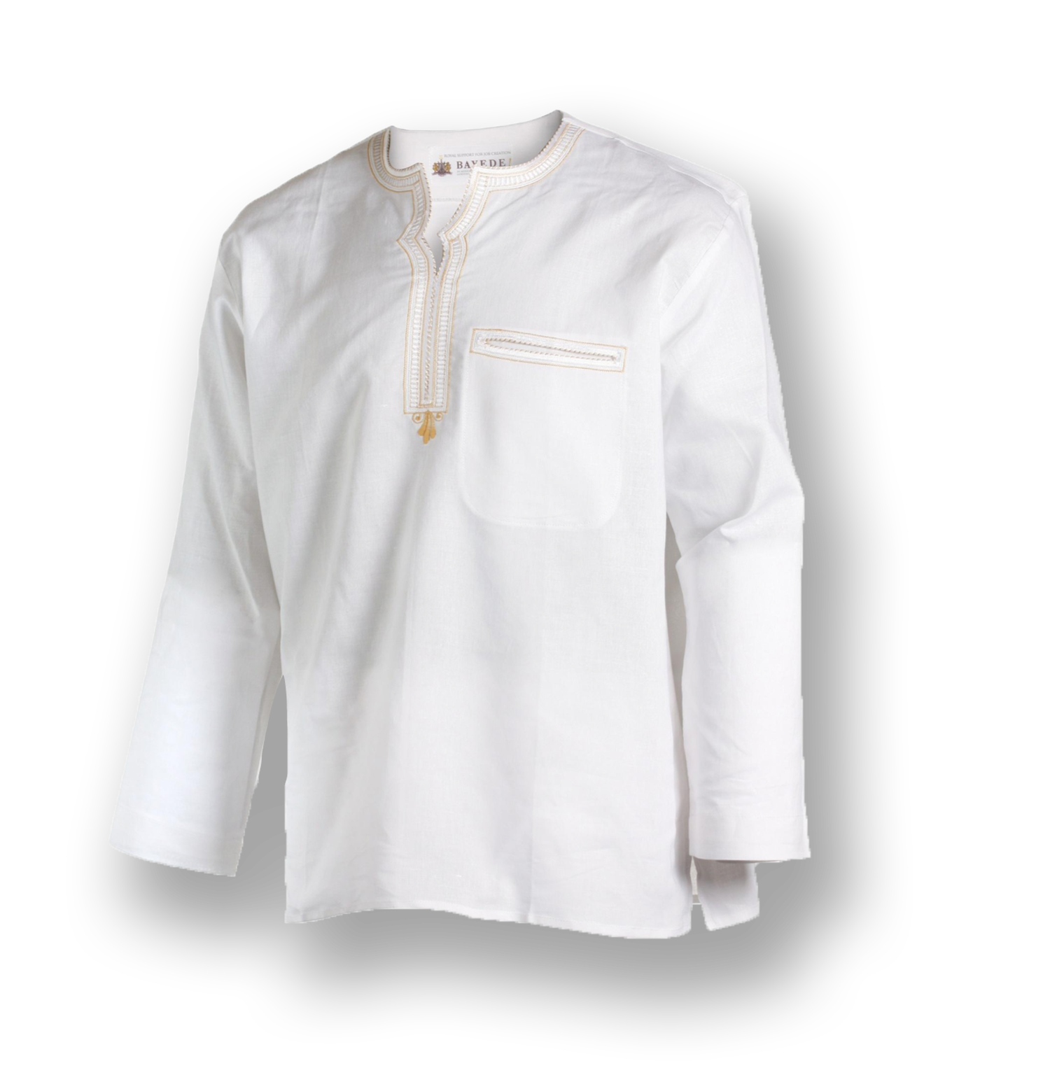 Bayede! Cream Ethnic Shirt