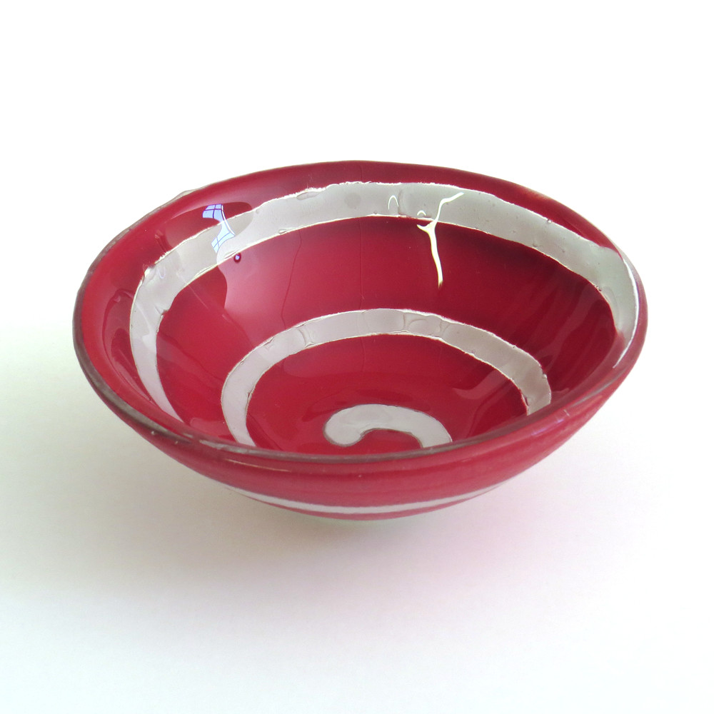 Bayede! Red Spiral Bowl
