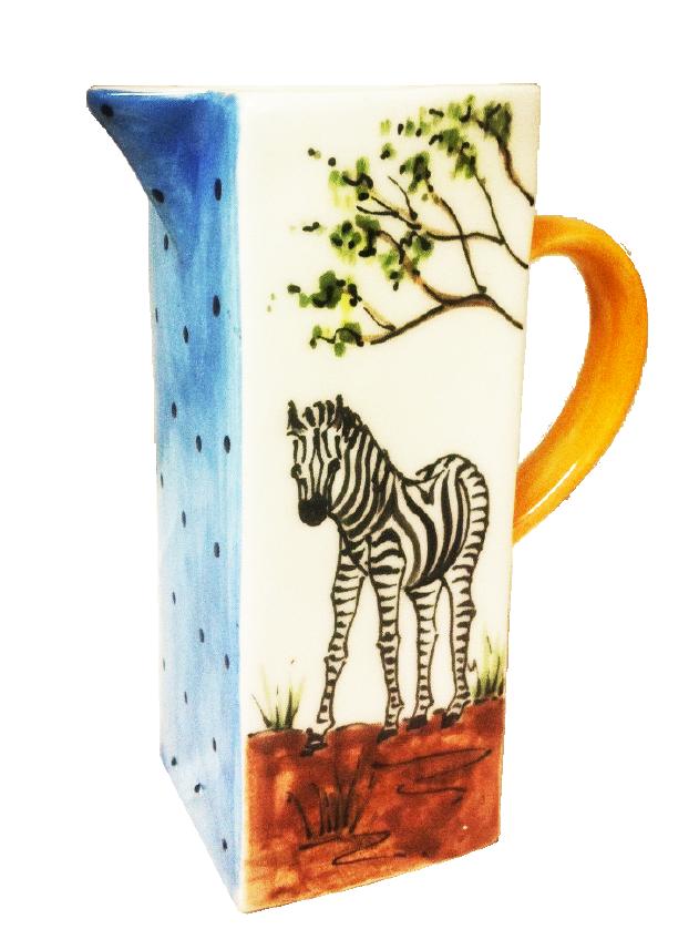 Bayede! Zebra Pottery Vase