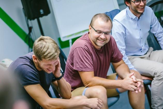 studenti programování v green fox academy teambuilding