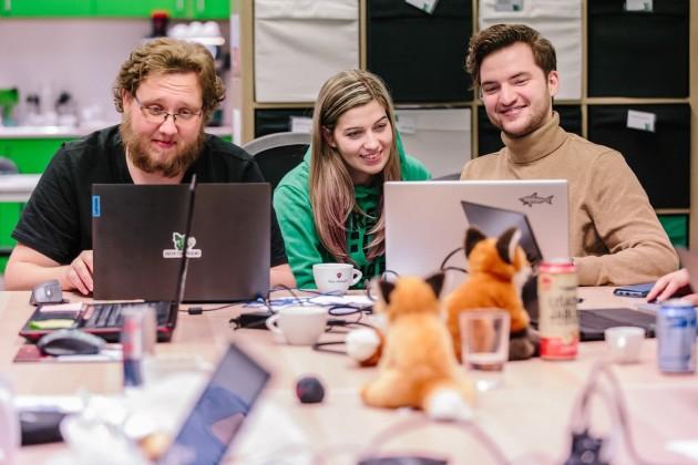 green fox academy student igor se spolužáky