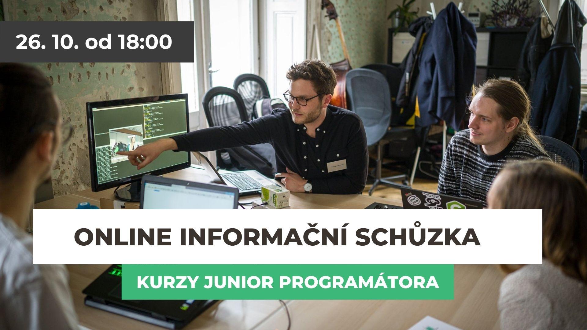 Online informační schůzka: Jak se rekvalifikovat na junior programátora?