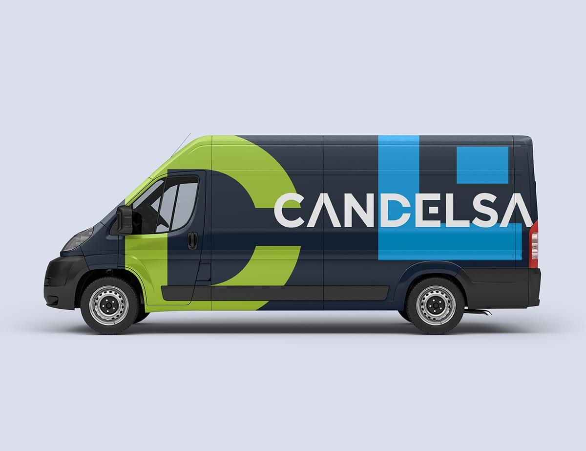 candelsa branding vehicle
