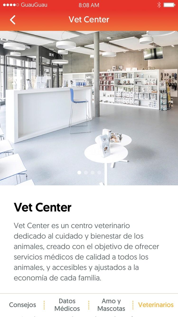 dogtor - vista página detalle de veterinario