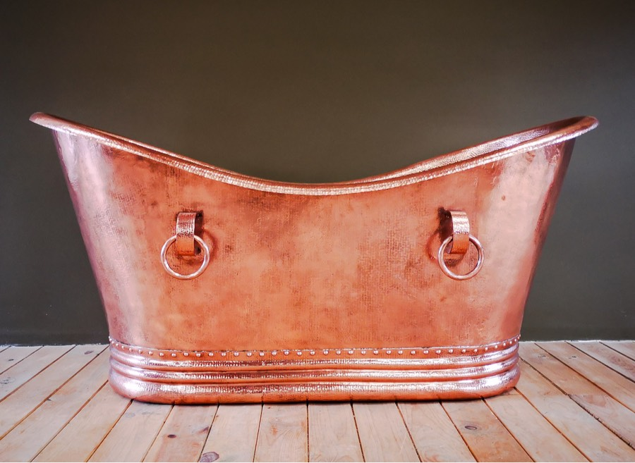 copper bath tub