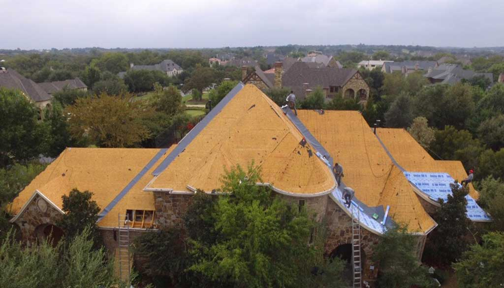 New Roof Construction after Storm