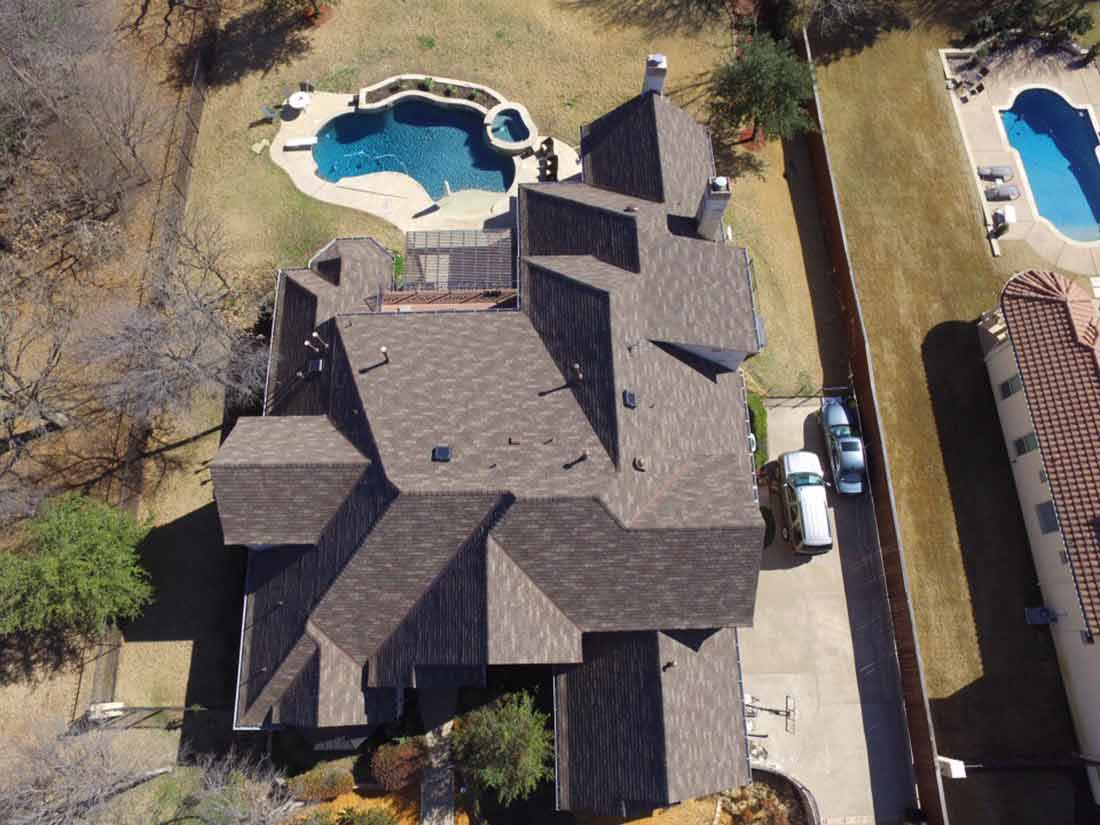 Top view of home in DFW