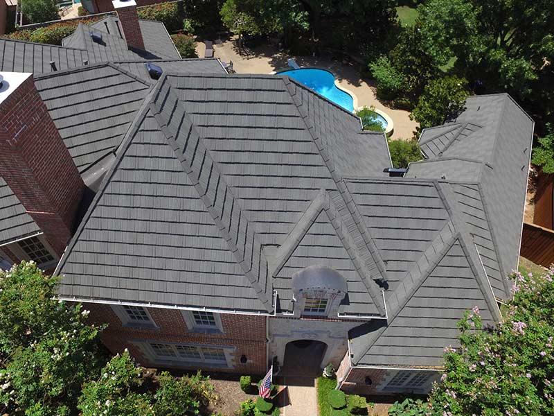 top view metal roof