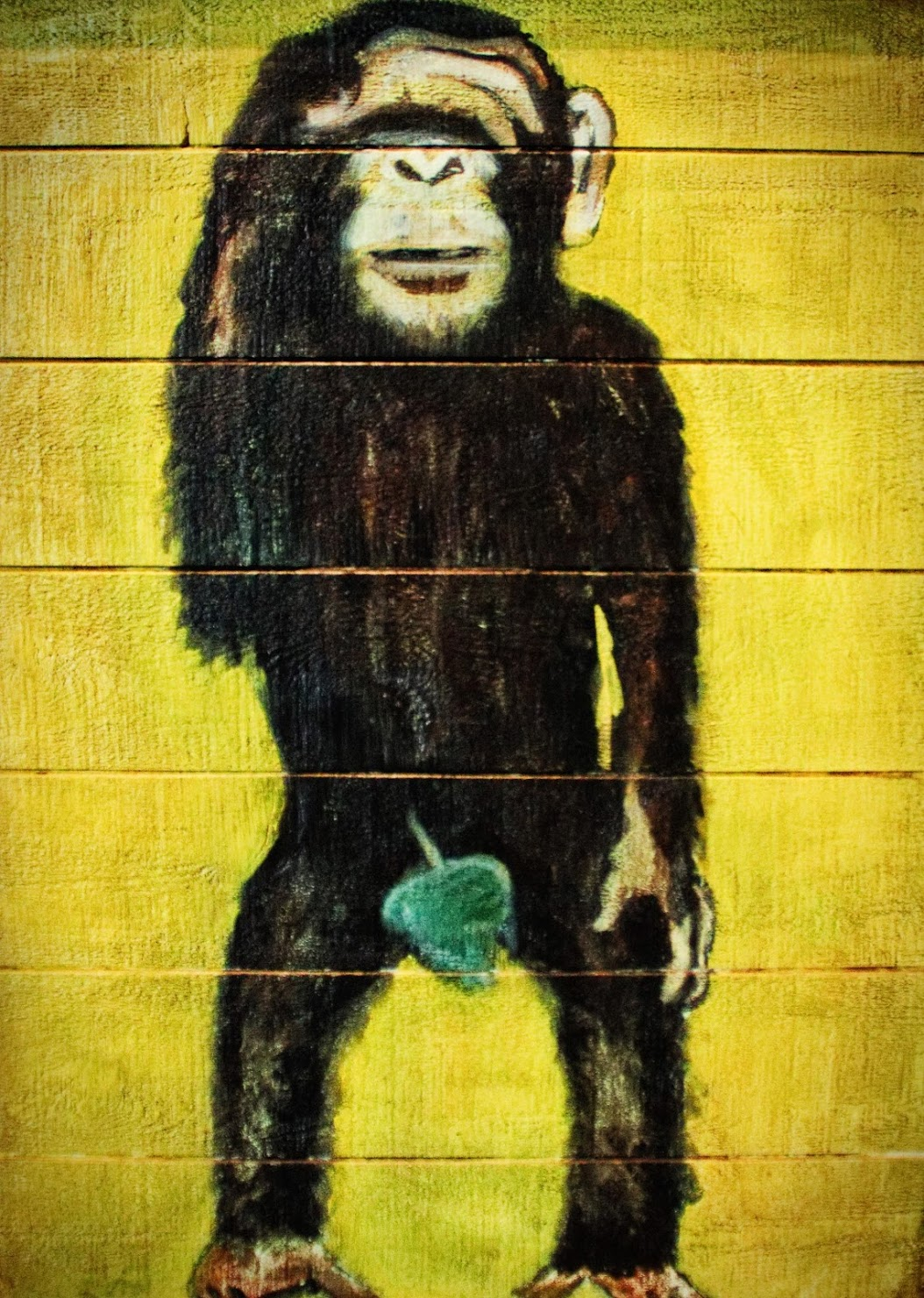painting of monkey standing