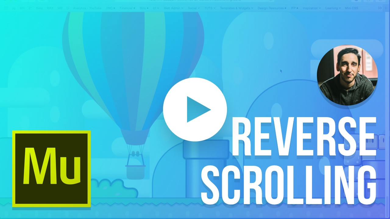 Reverse Scrolling Website