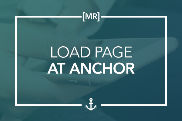 Load Page at Anchor