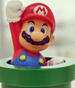 Super Mario figurine oversees the latest mobile apps and games developed in our London studio.