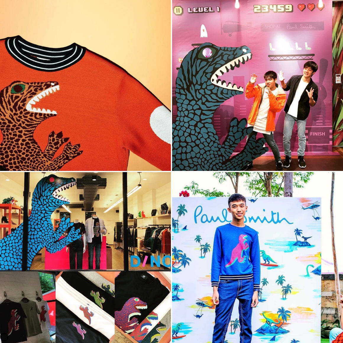 The Paul Smith Dino Jumper fashion range and game proved popular in Japan