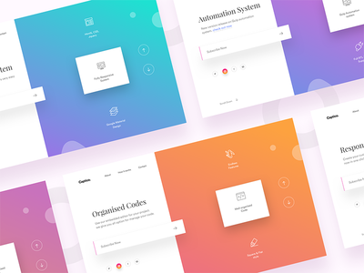 Gradient Color Example in Web Desing