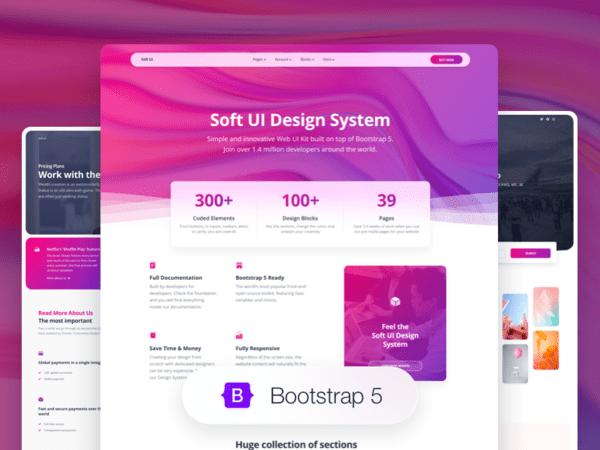 Soft UI Design System PRO interface