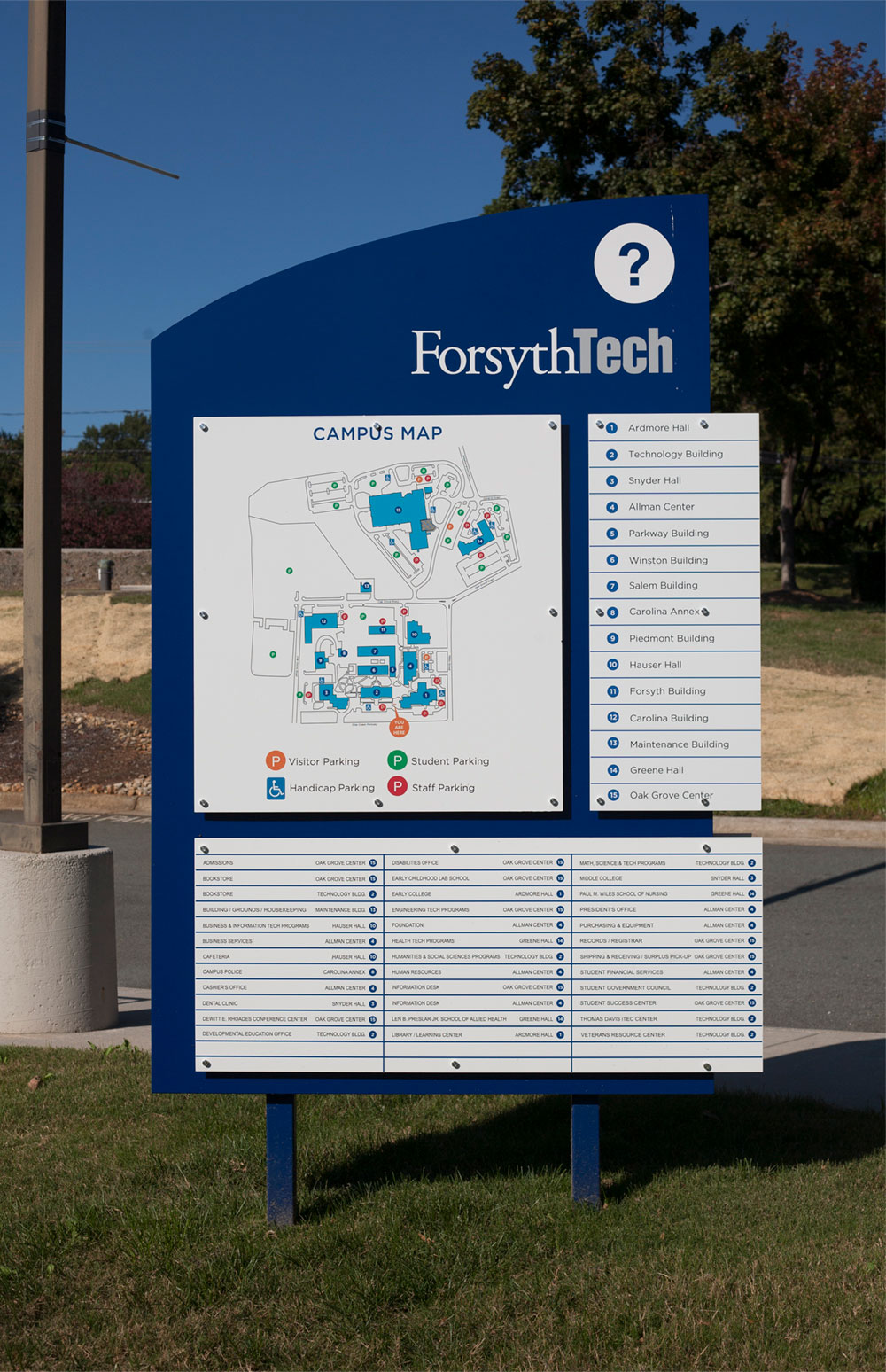 Forsyth Tech Main Campus Map.Fifth Letter