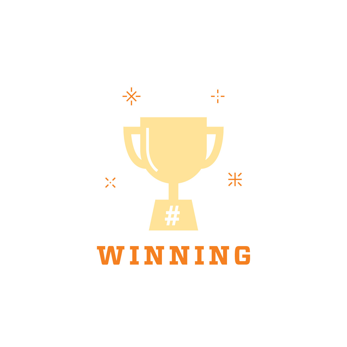 6 Easy Steps For Winning Social Media graphic with trophy