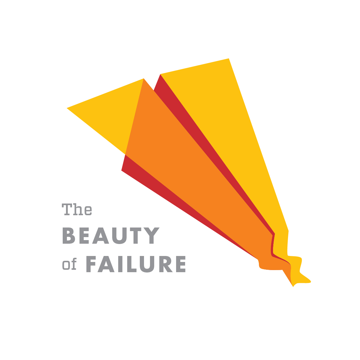 The Beauty of Failure graphic with paper air plane