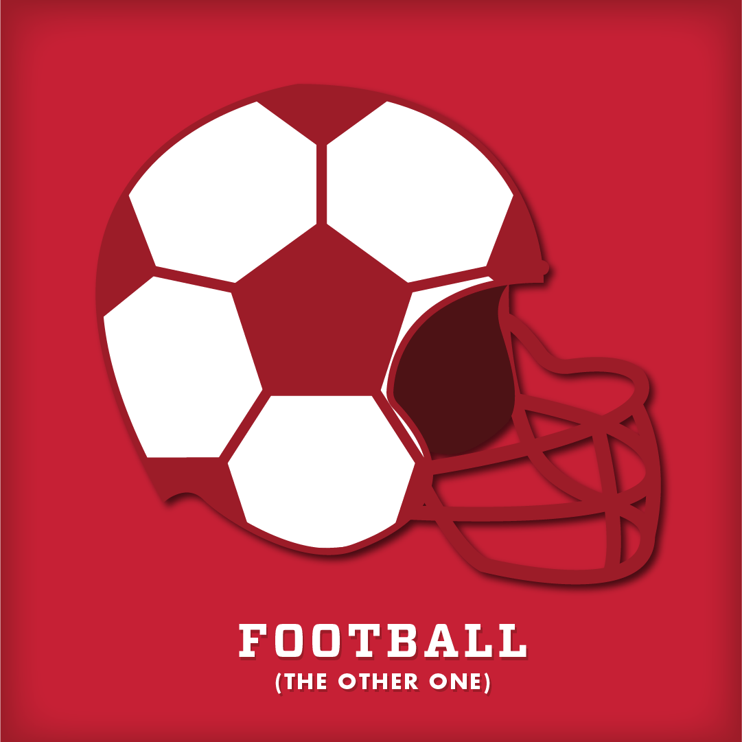 Why You Should Start Watching Football (The Other One) Graphic with Helmet