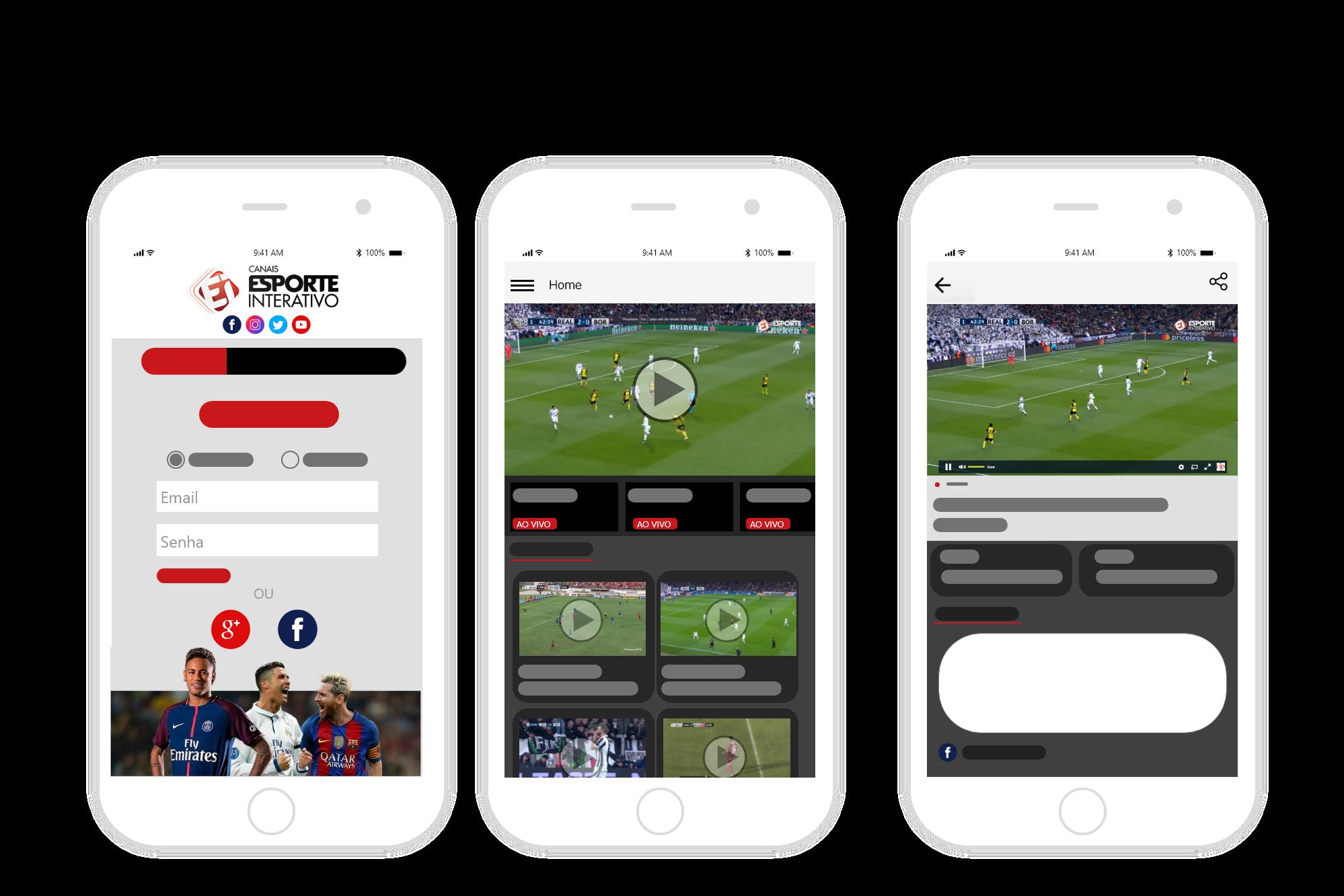 OTT personalizada para todos los dispositivos (Esporte Interativo)