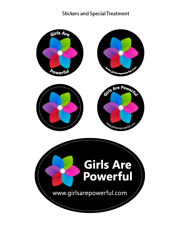 Step 6 - Sticker variations with the new logo