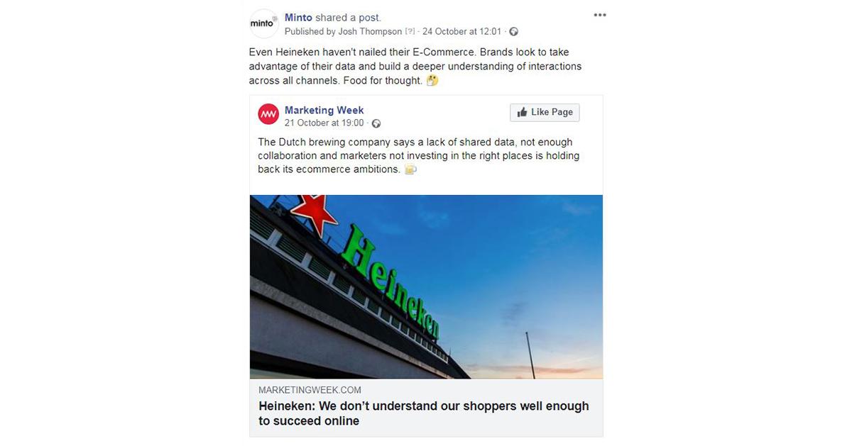 Minto Heineken Marketing Week social share image