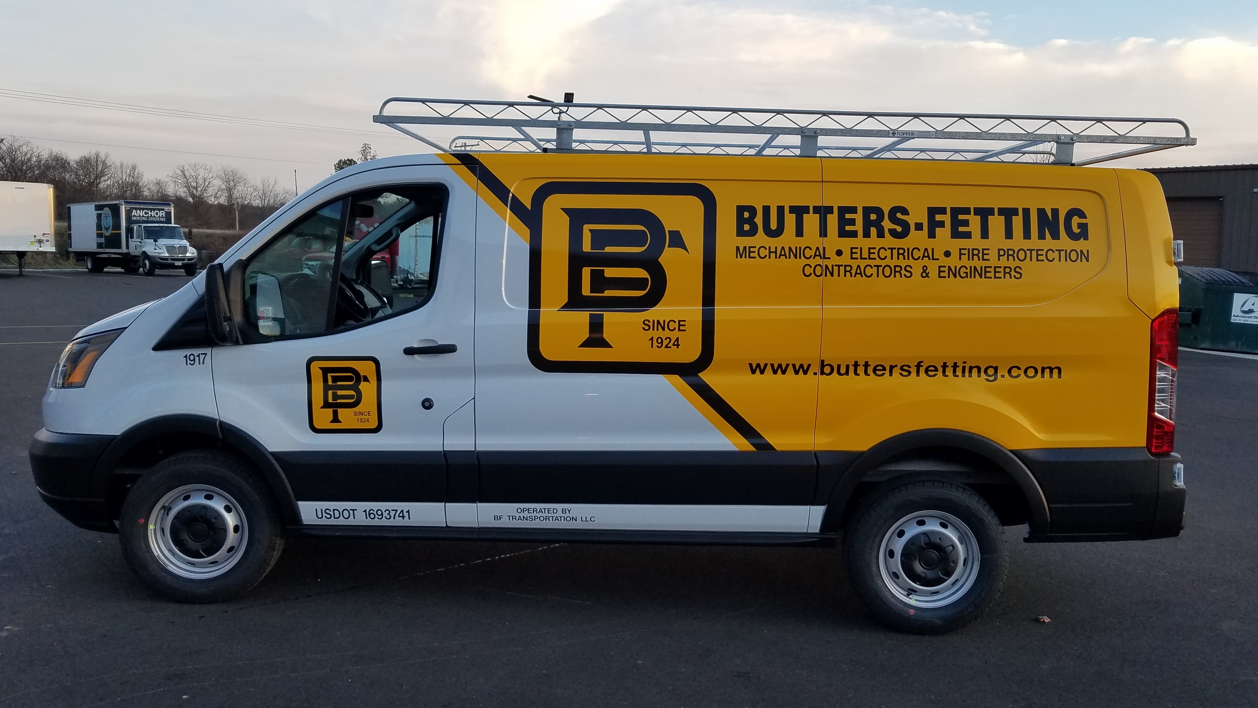 Butters Fetting work vinyl wrap designed and installed by Signs & Lines by Stretch
