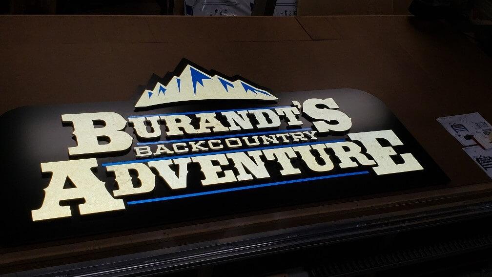 Burandt's Back Lit Lobby Sign
