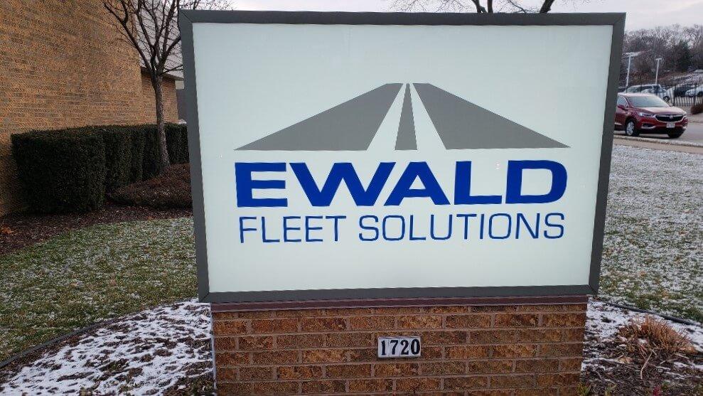 Ewald LED lit brick monument sign