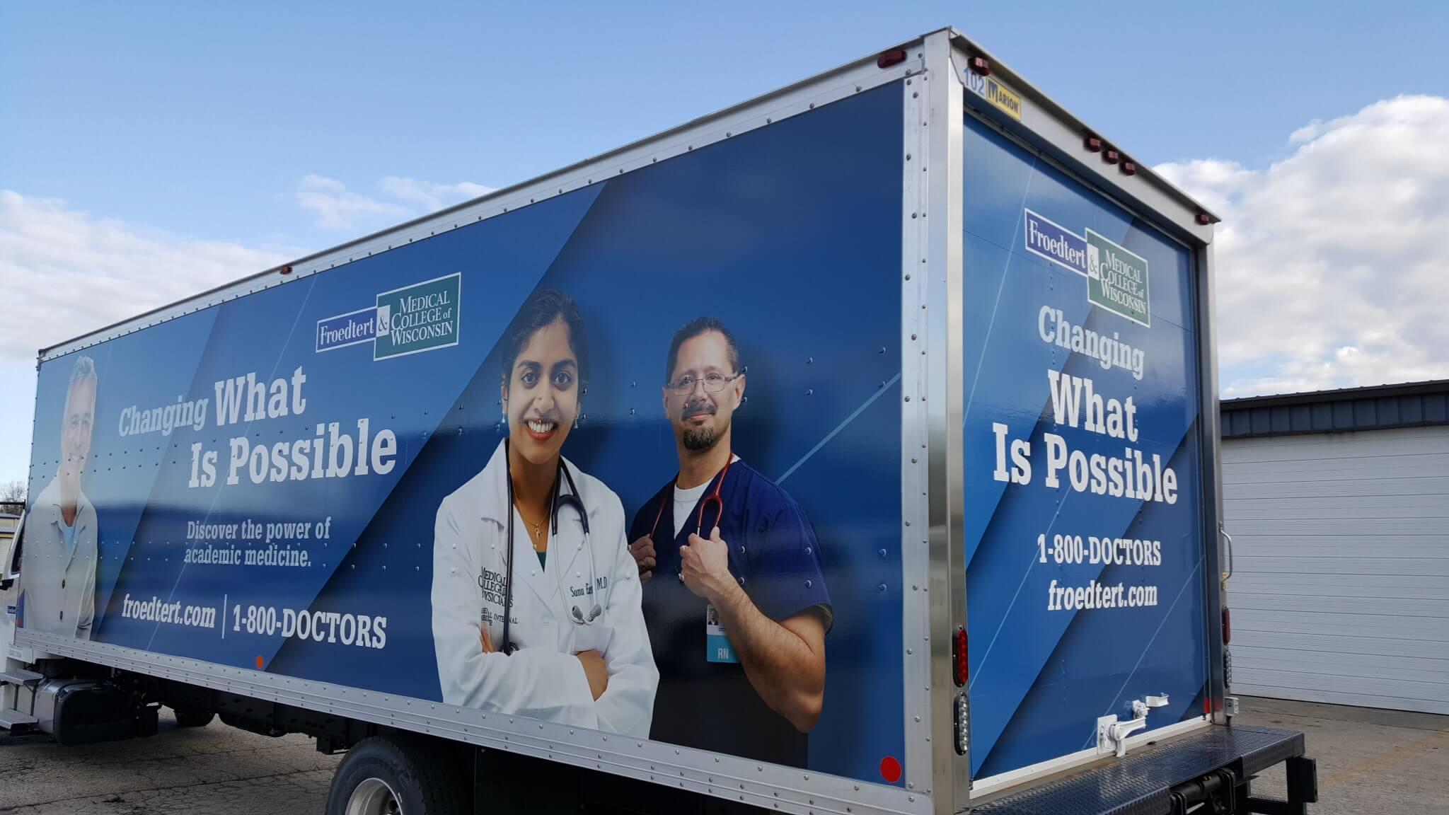 Hospital box truck and van wrap