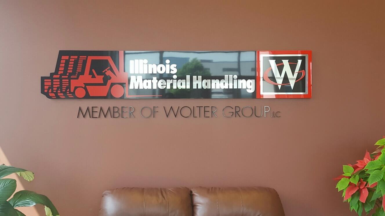 Wisconsin Lift Truck Custom Lobby Sign